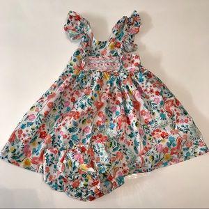 Iris & Ivy toddler girl flamingo print dress